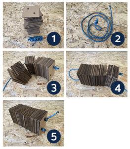 étapes de montage du griffoir