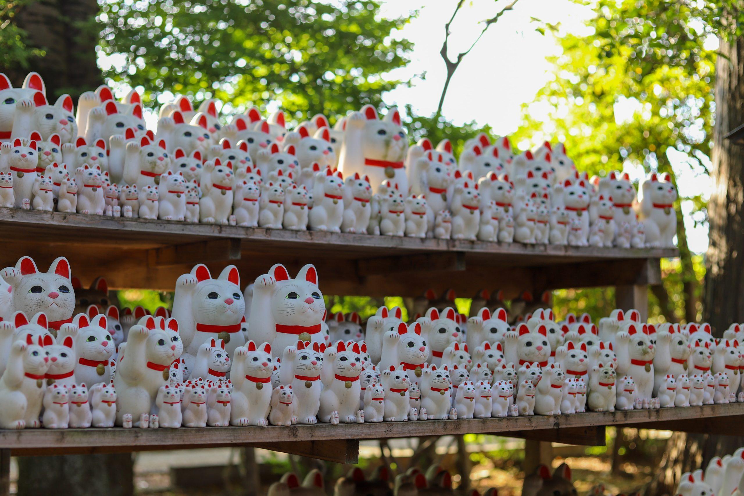 chats porte bonheur japonais