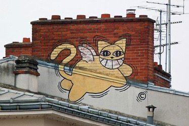 Pourquoi le chat est-il la star du street art?